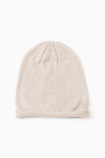 Solid colour beanie cap, Chalk White, hi-res