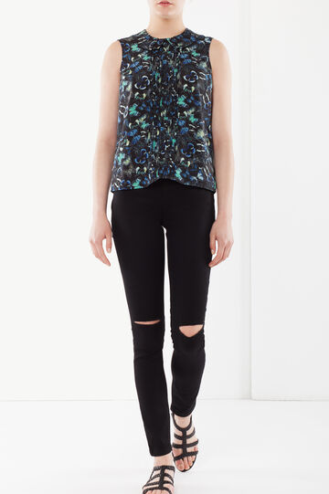 Pleated blouse, Floral print 2, hi-res