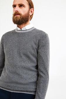 Cashmere blend Rumford pullover, Dark Grey, hi-res
