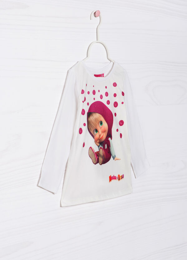 Masha and the Bear stretch T-shirt | OVS