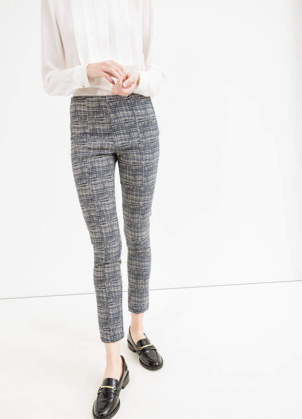 Pantaloni viscosa fantasia zip su fianco | OVS