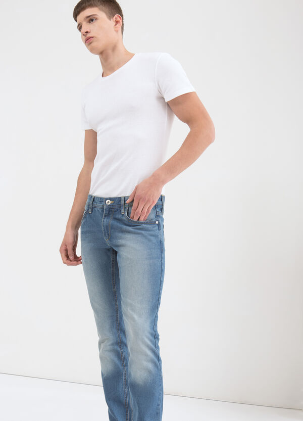 Slim-fit, faded jeans | OVS