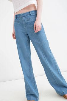 High-waist flare fit jeans, Denim, hi-res