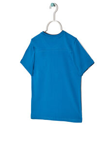 Printed T-shirt in 100% cotton, Turquoise Blue, hi-res
