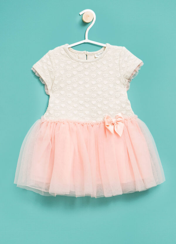 Dress with flounces and tulle skirt | OVS