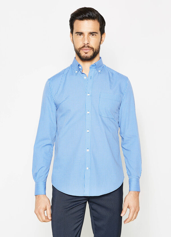 Regular-fit formal checked shirt | OVS