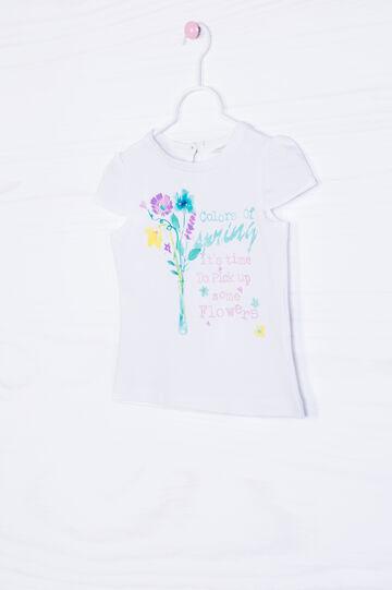 T-shirt cotone stretch con stampa