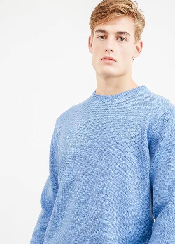 Jersey en color liso con cuello redondo   OVS