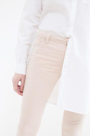 Pantaloni in misto cotone stretch, Beige, hi-res