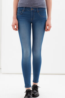 Jeans skinny con cerniera sulle caviglie, Lavaggio medio, hi-res