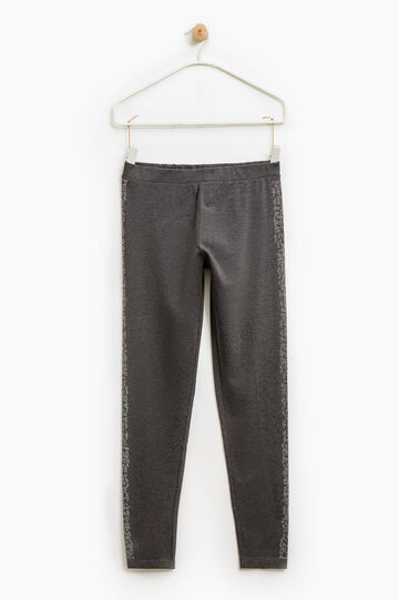 Leggings con strass Smart Basic, Grigio scuro melange, hi-res