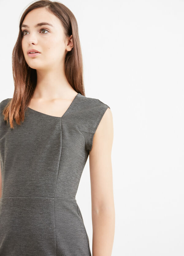 Sleeveless dress in stretch viscose | OVS