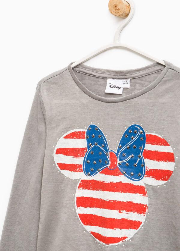 Camiseta de Minnie con strass y tachuelas | OVS