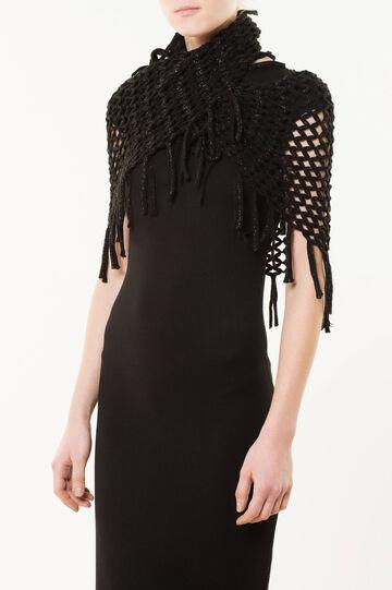 Circle scarf, Black, hi-res