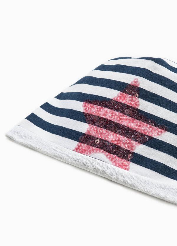Cappello a cuffia righe e paillettes | OVS