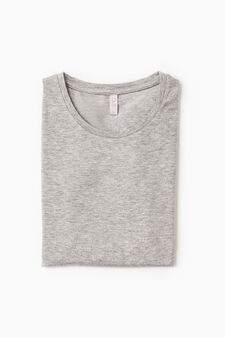 T-shirt intima cotone stretch, Grigio, hi-res