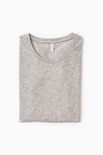 Stretch cotton undershirt, Grey, hi-res