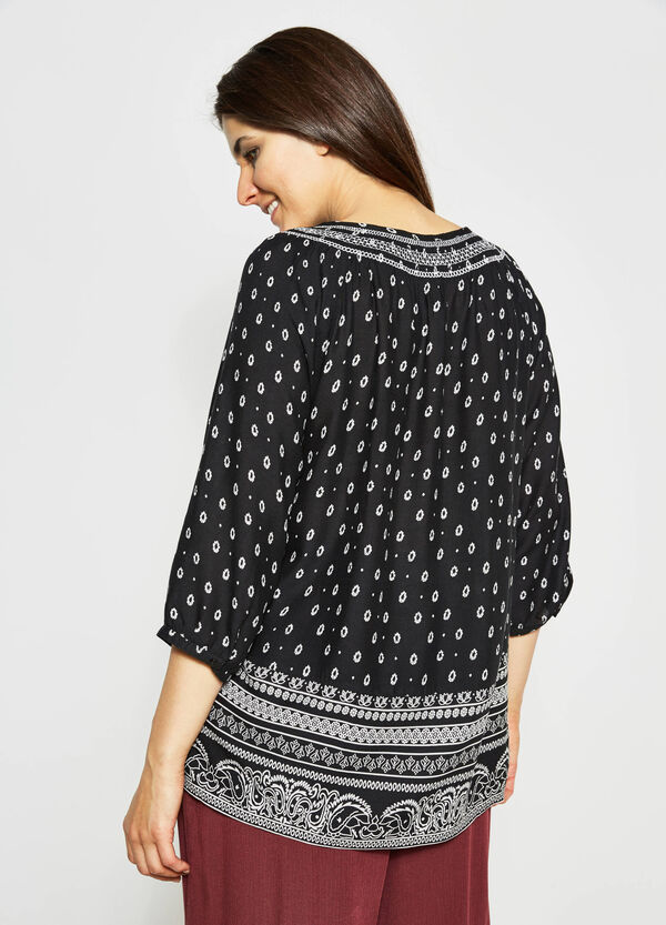 Curvy blouse with all-over print | OVS