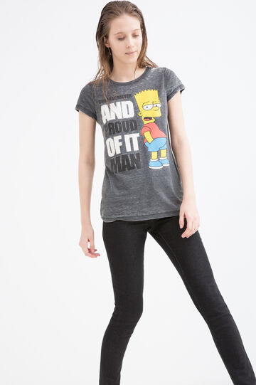 T-shirt in cotone The Simpsons, Nero, hi-res