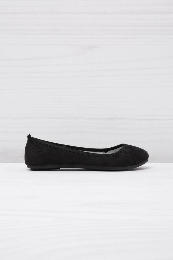 Round toe suede ballerina pumps | OVS