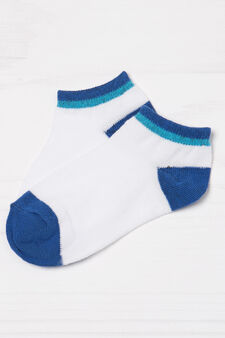 Two-pair pack cotton blend socks, Royal Blue, hi-res