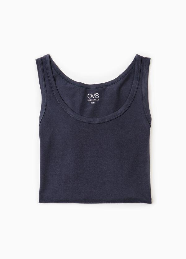 Solid colour cotton vest | OVS