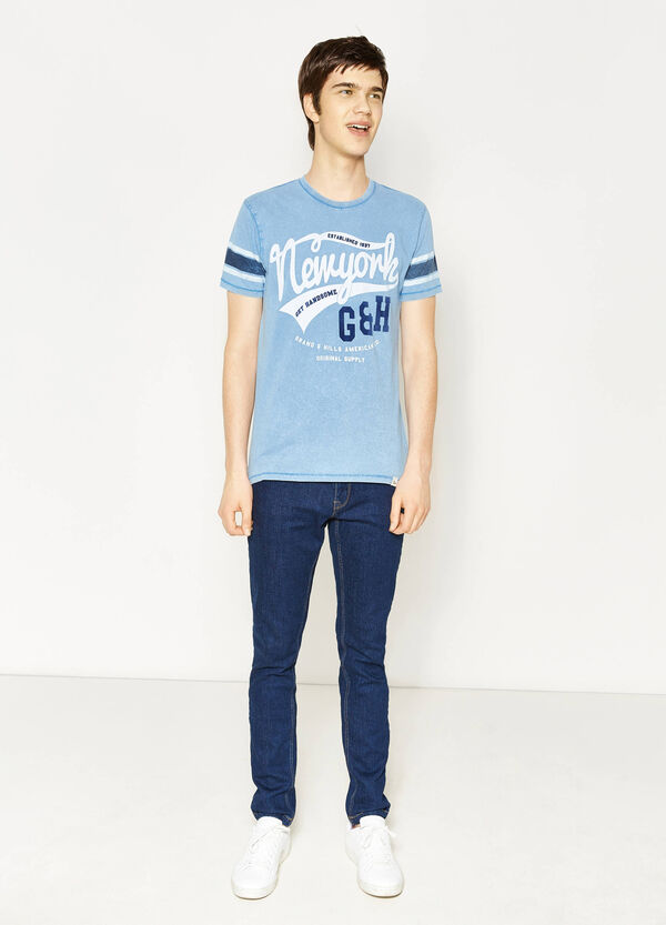 T-shirt in 100% cotton with G&H print   OVS
