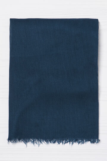 Pashmina pura viscosa tinta unita, Blu navy, hi-res