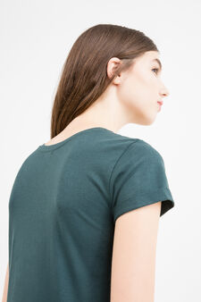 Solid colour T-shirt in 100% cotton, Forest Green, hi-res
