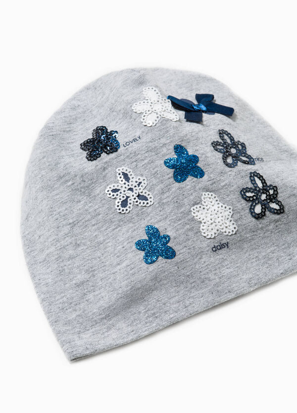 Beanie cap with glitter and sequins | OVS