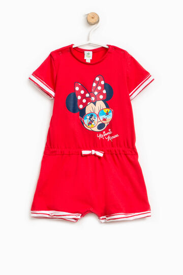 Minnie Mouse sleepsuit with striped turn-ups