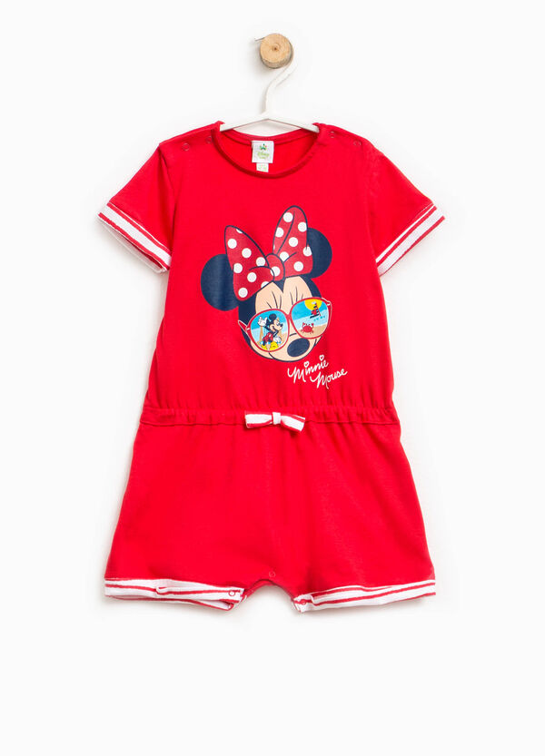 Minnie Mouse sleepsuit with striped turn-ups | OVS