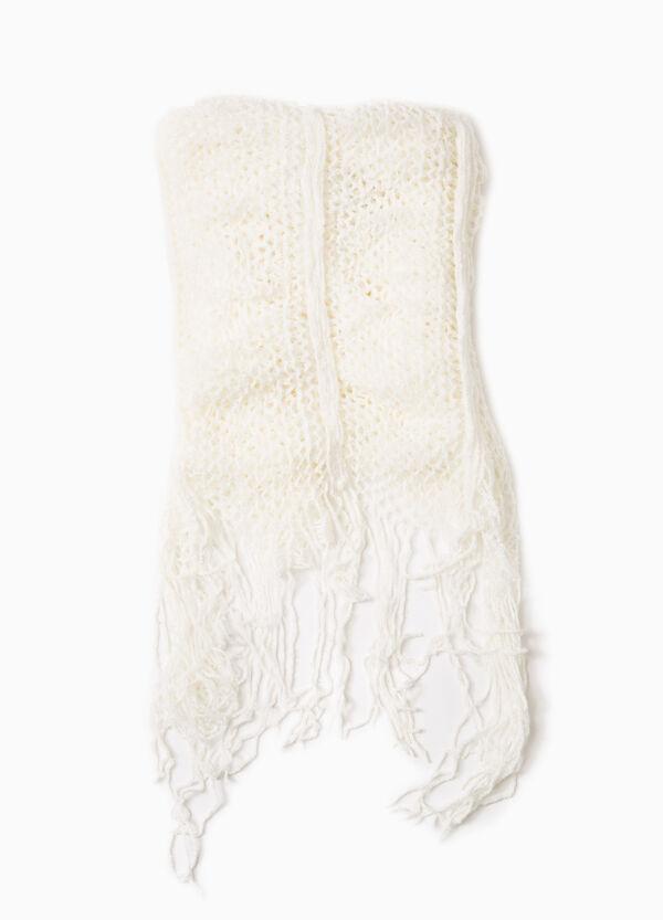 Openwork scarf with fringe | OVS