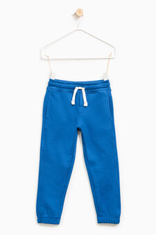 Solid colour 100% cotton joggers, Royal Blue, hi-res