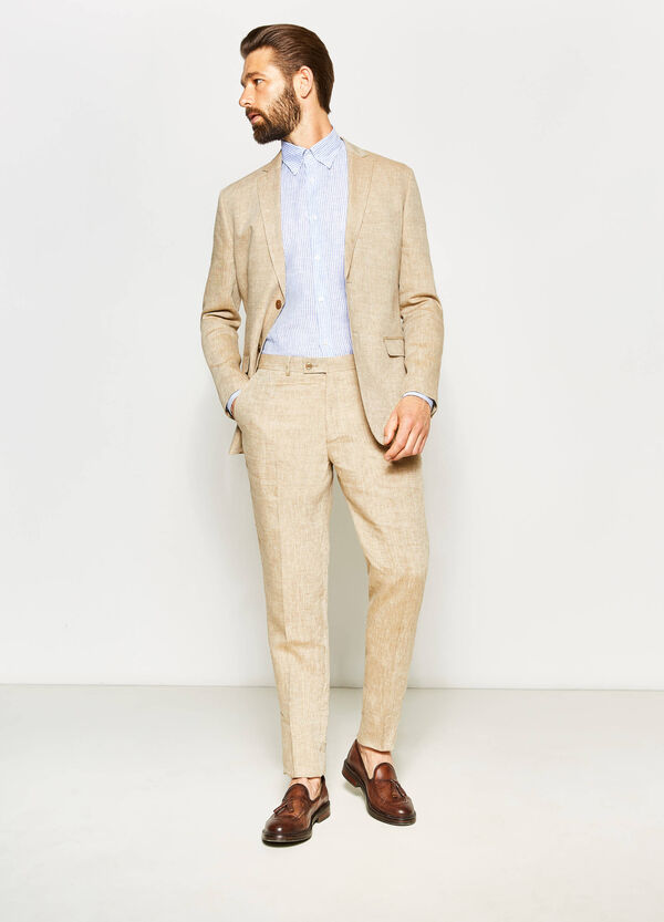 Regular-fit elegant linen jacket | OVS
