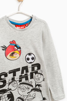 T-shirt puro cotone Angry Birds, Grigio melange, hi-res