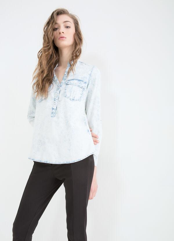 Misdyed denim blouse | OVS
