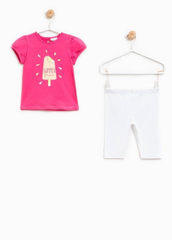 Printed T-shirt and leggings set   OVS