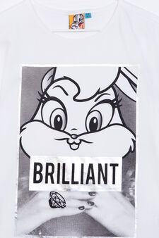 T-shirt with Looney Tunes print, White, hi-res