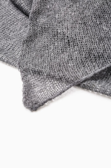 Solid colour knitted scarf, Grey Marl, hi-res