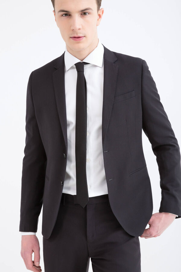 Custom-fit jacket in viscose blend | OVS