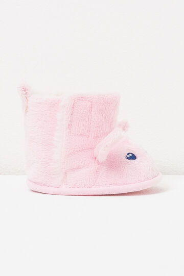 Shoes with ears and embroidery, Pink, hi-res