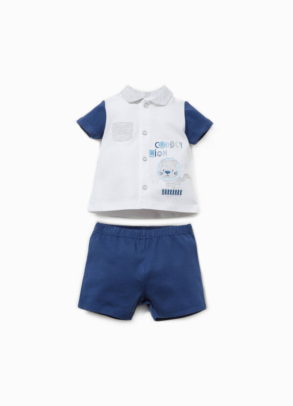 Cotton shirt and shorts outfit | OVS