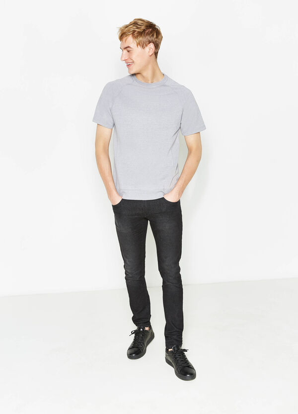 T-shirt in misto cotone maniche raglan | OVS