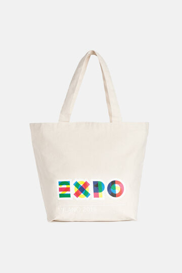 EXPO2015 trapezoid bag, Cream White, hi-res