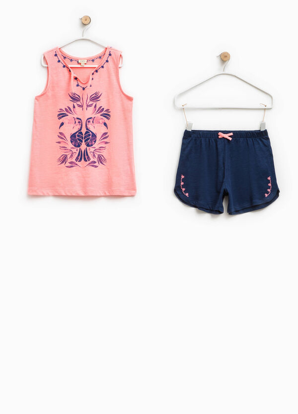 100% Biocotton embroidered pyjamas | OVS
