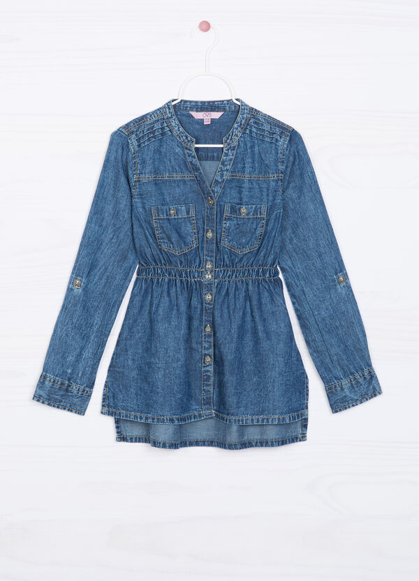 Denim shirt with gathered waist | OVS