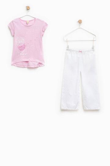 Pigiama con maglia stampata e pantaloni