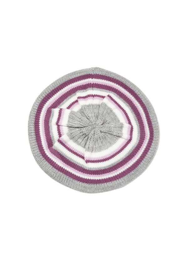 Striped-pattern flat cap | OVS