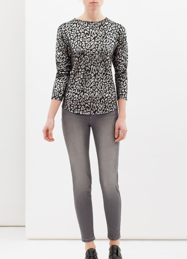 T-shirt stretch animalier | OVS